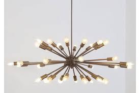 large mid century brass sputnik chandelier starburst light fitting fixture photo