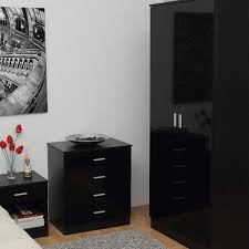 Walnut And High Gloss Bedroom Furniture  High Gloss Bedroom - Black and walnut bedroom furniture