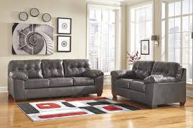 Living Room Loveseat Microfiber Gray Couch Ashley Furniture Grey