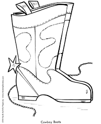 Easy Shapes Coloring Pages Free Printable Cowboy Boots Easy