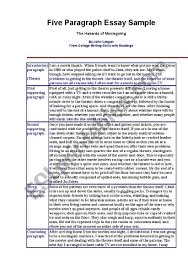 Example Of 5 Paragraph Essays 5 Paragraph Essay Example Esl Worksheet By Rakham