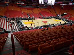 Miami Heat Seating Chart With Seat Numbers Americanairlines Arena Section 108 Miami Heat