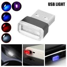 <b>4pcs Mini USB LED</b> Light Colorful Light Lamp For Car Atmosphere ...
