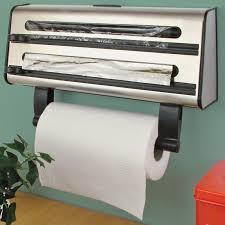 Kitchen Towel Holder Kitchen Triple Roll Dispenser Cling Film Tin Foil Towel Holder