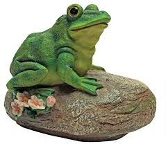 frog garden rock sitting toad statue traditional garden statues and yard art by xoticbrands home decor