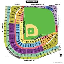 Cubs Wrigley Field Seating Chart 70 Unique Wrigley Field Diagram