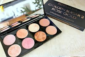 makeup revolution haul ultra palette golden sugar 2 rose gold blush bronze highlight 3 in 1 palette review