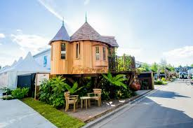 tree house designs. Magical Blue Forest Treehouse Is A Fairytale Castle For Your Backyard Tree House Designs G