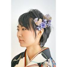 卒業式ヘア清楚な黒髪ショートヘア袴スタイル Felicita Hair Design