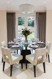 dining room decorative round glass dining table room ideas with within decorating ideas for dining room