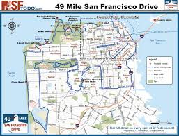 scenic 49 mile drive Map Bus Route San Francisco san francisco 49 mile drive map san francisco muni bus route map