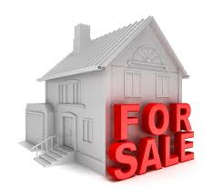 Home For Sale 3D Concept Isolated White Stock Illustration