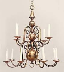 12 arm antique dutch baroque style copper brass chandelier fixture lamp lighting