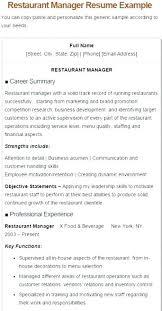 Restaurant Manager Resume Sample Lovely Restaurant Duties Resume