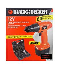 black and decker tools. black + decker cd121k50 12v cordless drill \u0026 driver with 50 pcs. tool kit and tools