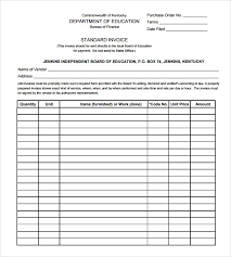 Standard Invoices Template Sample Education Invoice Template 7 Free Documents Download In Pdf