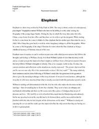 on the elephant essay on the elephant