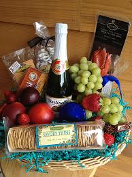 pacific northwest snack basket with fruit