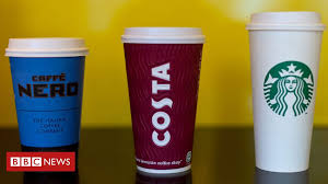 The uk's thirst for coffee on the go means an estimated 2.5 billion paper cups are thrown away every year. Plastic Recycling Why Are 99 75 Of Coffee Cups Not Recycled Bbc News
