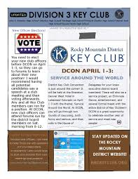 Example Of A News Letter Jan 24 Key Club Newsletter By RMD Key Club Issuu 17