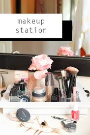 Makeup station organized to help you make you pretty