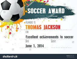 soccer awards templates template football certificate template soccer with ball icon