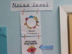 Little Miss Chart Mr Men Little Miss Noise Level Chart By Lbsch Teaching