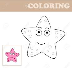 coloring page with sea star coloring book for children educational children s game drawing