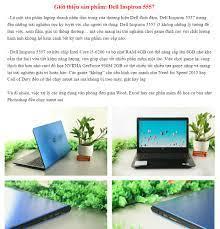 Laptop Đồ Họa, Chơi Game Chất Lượng Giá Rẻ Dell Inspiron 5557, i5-6200U,  VGA Rời Nvidia 930M-2G, Màn 15.6 HD, Laptop Gaming | Laptop Và PC Gaming