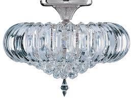 sigma semi flush 5 lamp acrylic prism ceiling light