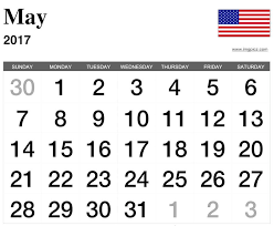 calendar for the month of may month of may 2017 calendar usa calendar may 2017 united states