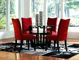 red dining room sets red dining room sets round glass dining table and red chairs