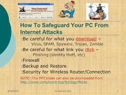 How To Safeguard Your PC From Internet Attacks - ppt download