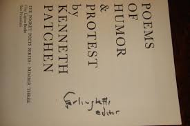 patchen kenneth lawrence ferlinghetti - poems humor protest - AbeBooks