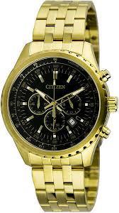 men s gold citizen chronograph stainless steel watch an8062 51e