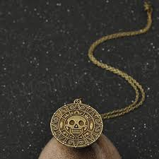 vintage bronze gold coin pirate charms aztec coin necklace men s pendant necklaces for lady xmas gift fashion accessories gga1090