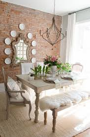 ... Dining Room Ideas, Excellent White Rectangle Rustic Wooden Dining Room  Decor Stained Design: unique ...