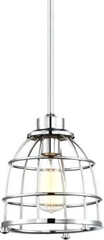 ma polished nickel mini pendant light metal wire cage shade 8wx47h antique wire cage pendant light lighting design experts