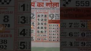 Top Ka Gola Weekly Chart Kalyan Rajdhani 19 08 2019