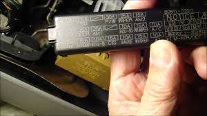 how to replace cigarette lighter fuse on 2006 toyota corolla youtube Fuse Box 2005 Toyota Corolla Fuse Box 2005 Toyota Corolla #15 fuse box 2004 toyota corolla