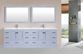 96 Redondo Gray Double Modern Bathroom Vanity With Integrated