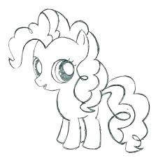 pinkie pie coloring pages page little baby