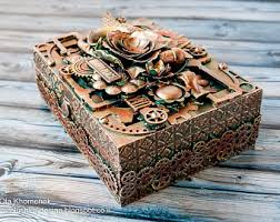 Decorating Cigar Boxes Copper cigar box Etsy 85