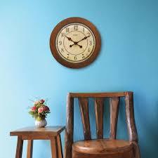 chaney 16 inch wood wall clock 46077