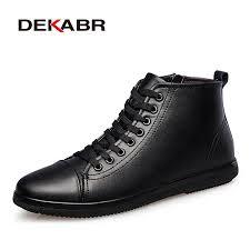 DEKABR Brand Men Boots <b>Plus Size</b> 37~47 Genuine Leather Ankle ...