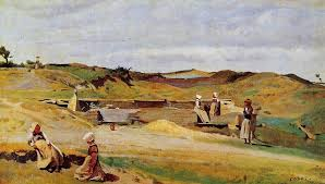mur cotes du nord 1855 by camille corot realism genre painting