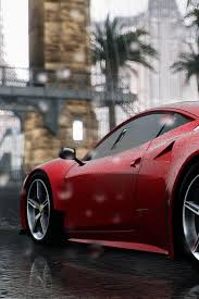 We had the privilege of doing something never been done before at our shop on this ferrari 458 italia. Ferrari 458 Italia Red Supercar Rear View Rain 640x960 Iphone 4 4s Wallpaper Background Picture Image