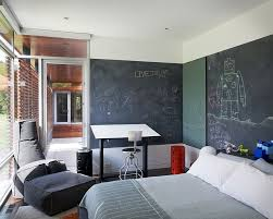 ... Multiple Chalkboard Walls For The Open Bedroom [Design: Hufft Projects]