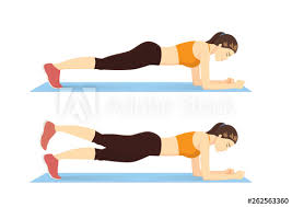Plank Exercise Chart Exercise Guide By Woman Doing Plank Leg Raises In 2 Steps On