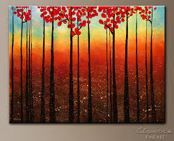 modern artwork on canvas spring ahead modern abstract painting flowers
